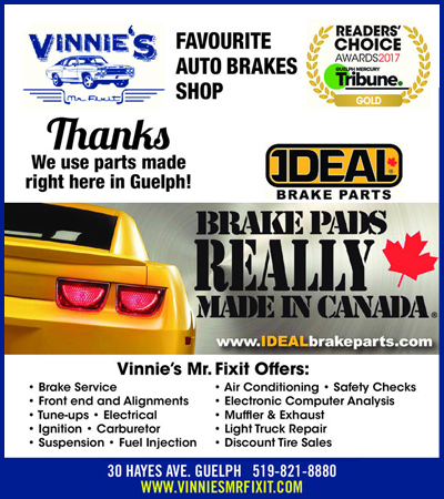Vinnie's promotional materials from the newspaper