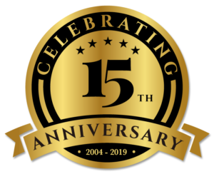 Celebrating 15 Years in Buiness in 2019