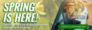 Spring Maintenance Promo 2020 Banner